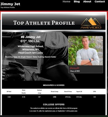 Jimmy Jet Awe Video Free Live Website, increase your online recruiting presence.
