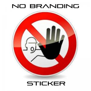 No Branding Sticker