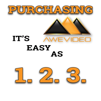 Purchasing Highlight Video: Easy As 1. 2. 3. at Awe Video LLC.