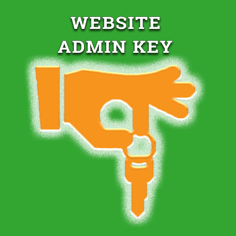 Website Admin Key, gives access to website icon.